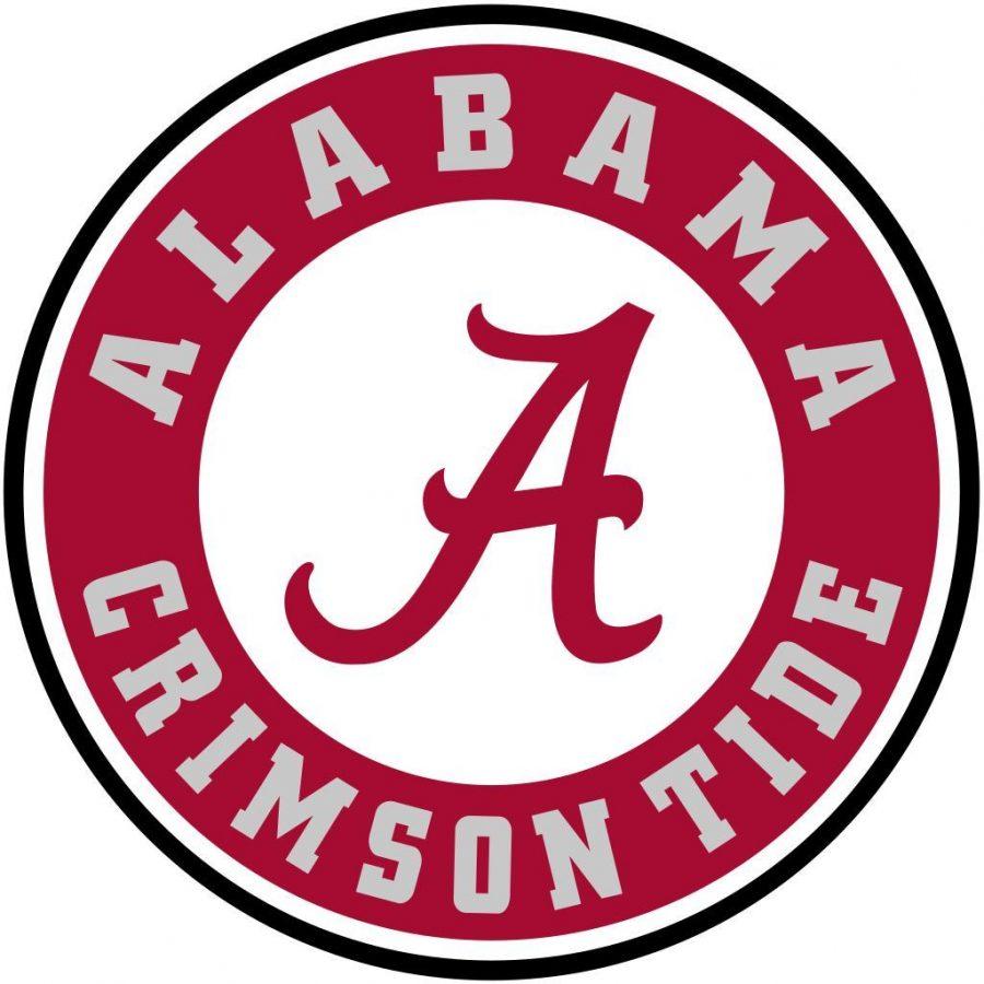 The official logo of Alabama University.
