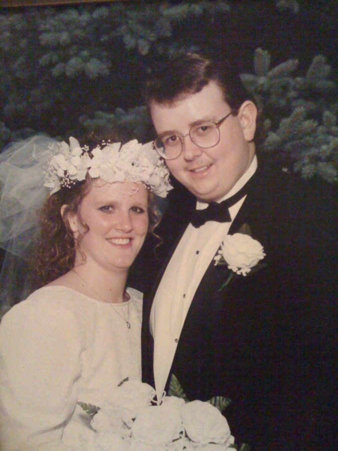 "Stephanie and Don Knowlton pose for their wedding pictures. ""We meet while working at Camp Millhouse in the summer of 1990,"