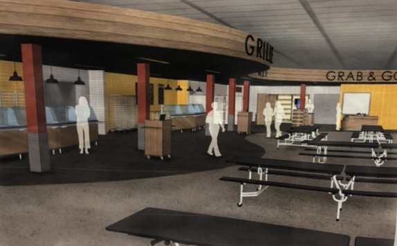 A glimpse at the expansion and reconstruction plans for Elkhart Memorial's cafeteria.