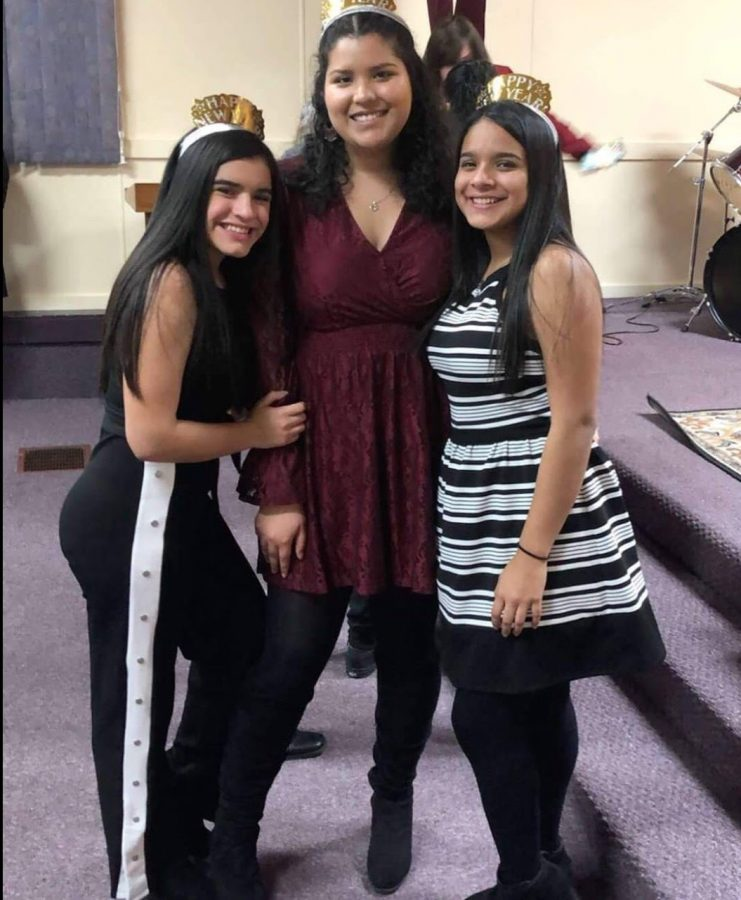 Senior Joangely Hernandez and her cousins celebrate New Years at their church on Monday, Dec. 31, 2018. This was just months before receiving her citizenship.