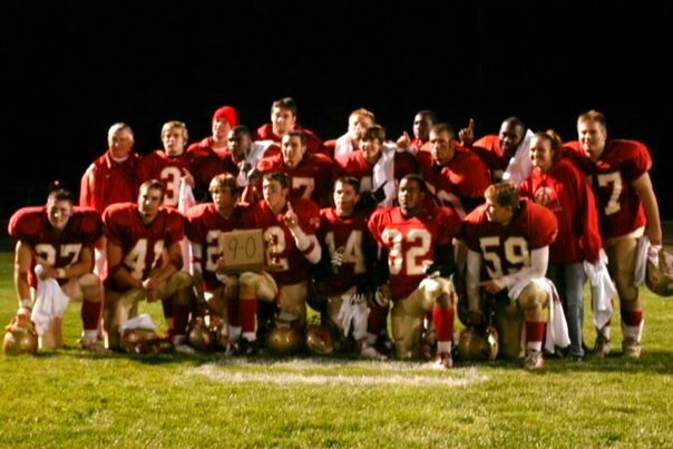 Members of the 9-0  2003 Northern Lakes Conference  championship Charger football team.