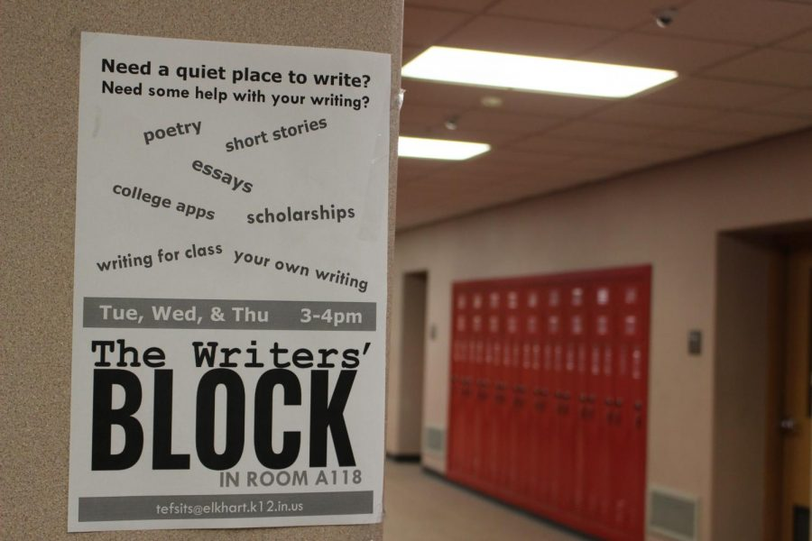 The Writer's Block offers a quiet environment with one-on-one help from composition teacher, Todd Efsits, Tues.-Thurs. from 3-4 p.m.