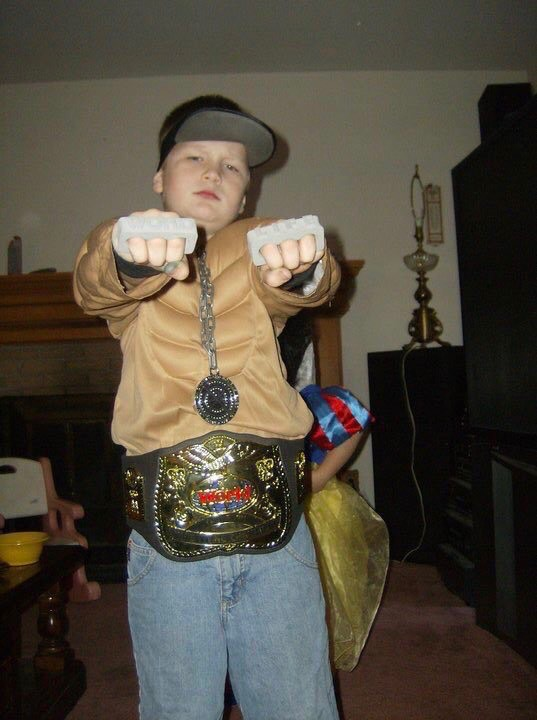 Senior Tyler Lehner poses as John Cena.