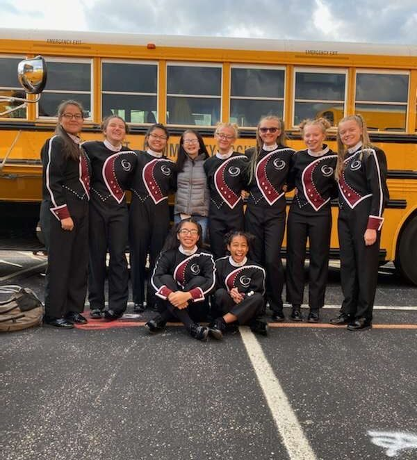 A quick picture of Percussionists before they perform!