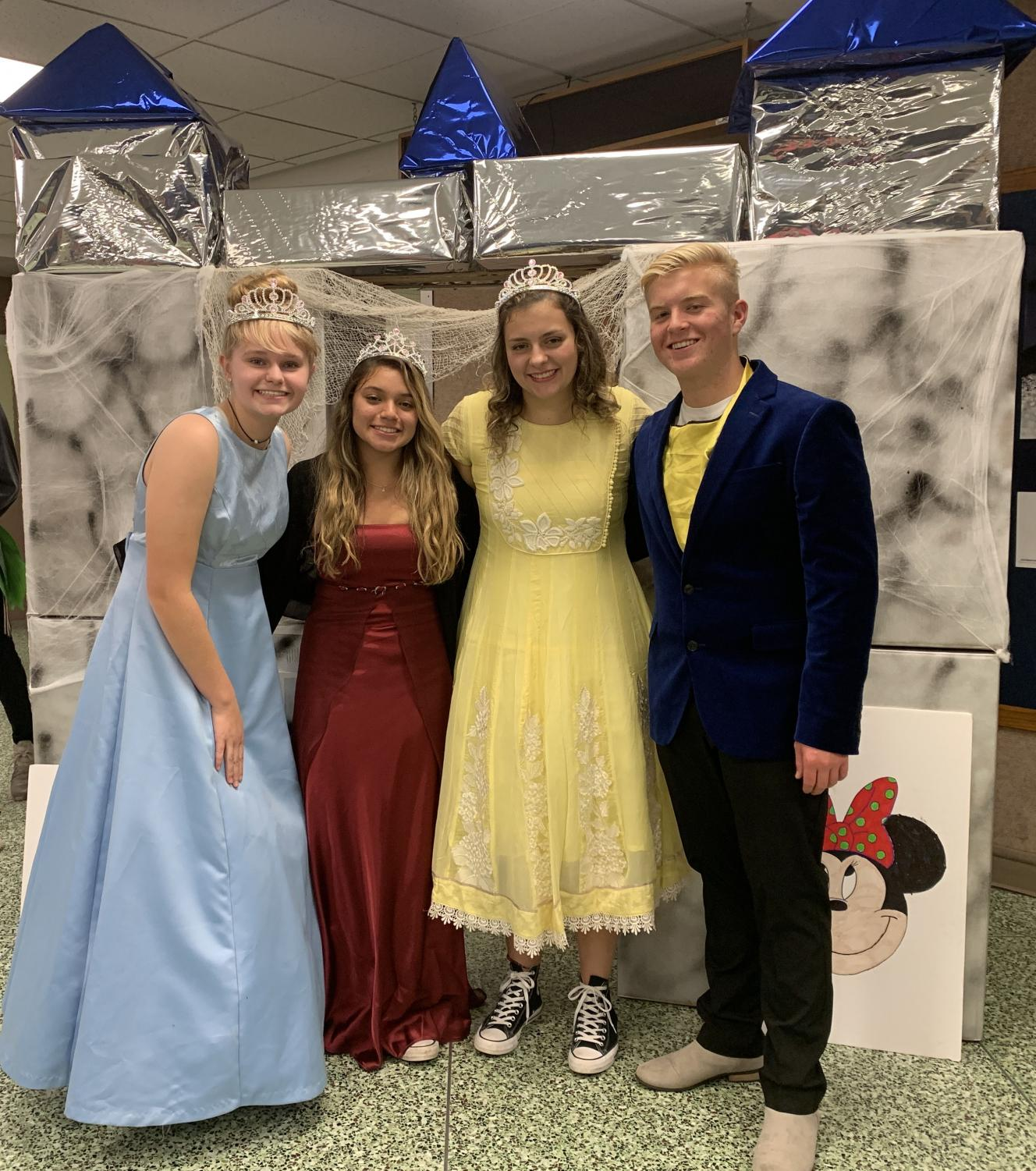 One of the many groups of students that participated in Track-or-Treat was Move2Stand.  Their theme was Disney and they even created a castle to go along with their table.