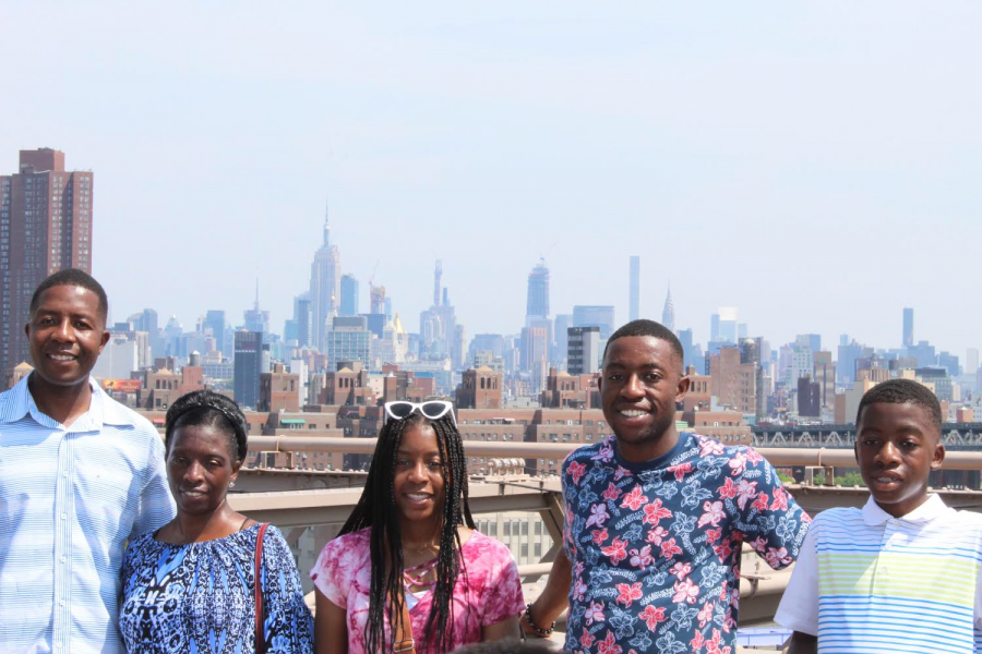 Precious and her family during a trip to New York City on July 20.