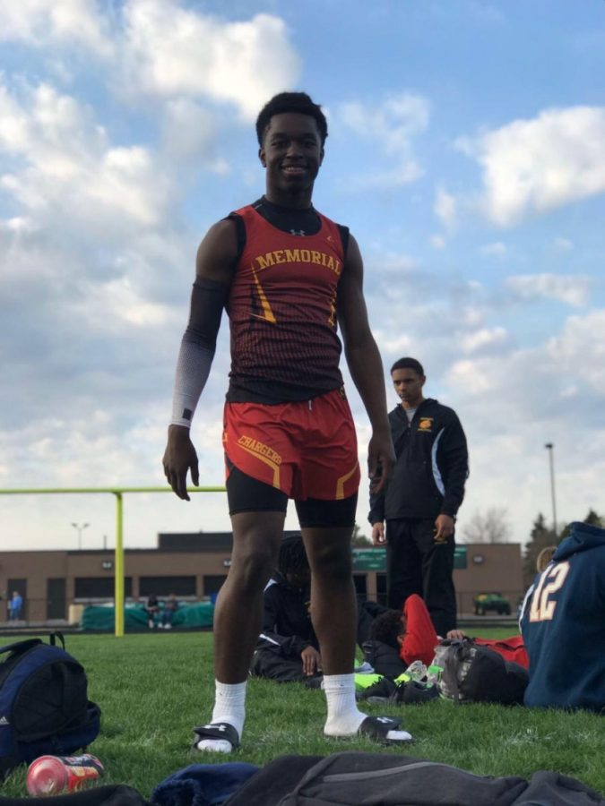 Junior Derrick Wood's track achievements include: NLC All Conference, Most Improved, NLC 4x1 Champs, NLC First Team, Regional Qualifier 100m Dash, Regional 4x1 Champs, Sectional 4x1 champs, 4x1 State Qualifier