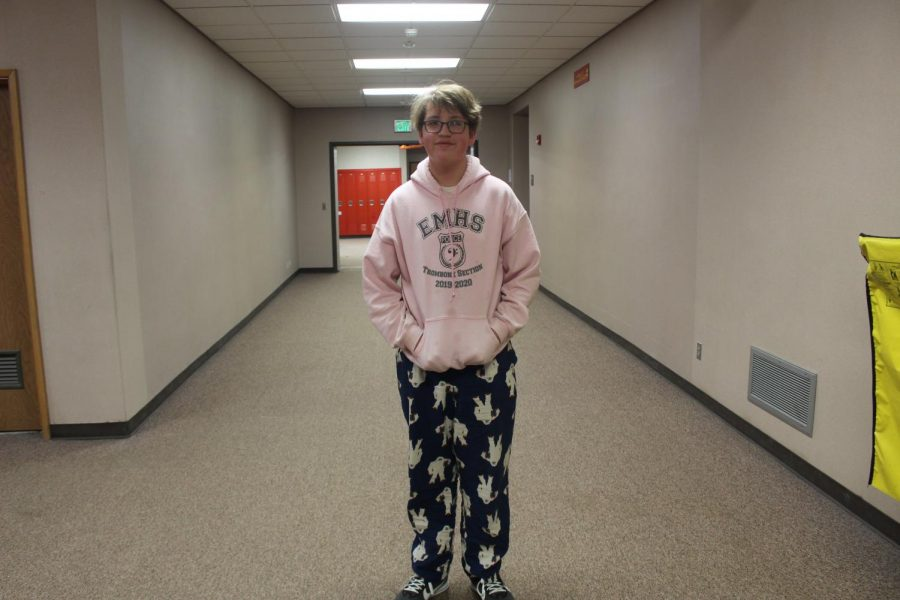 Freshman Tanner Duke took time out of class on Wednesday, Jan. 27 to pose for a picture for lazy day.