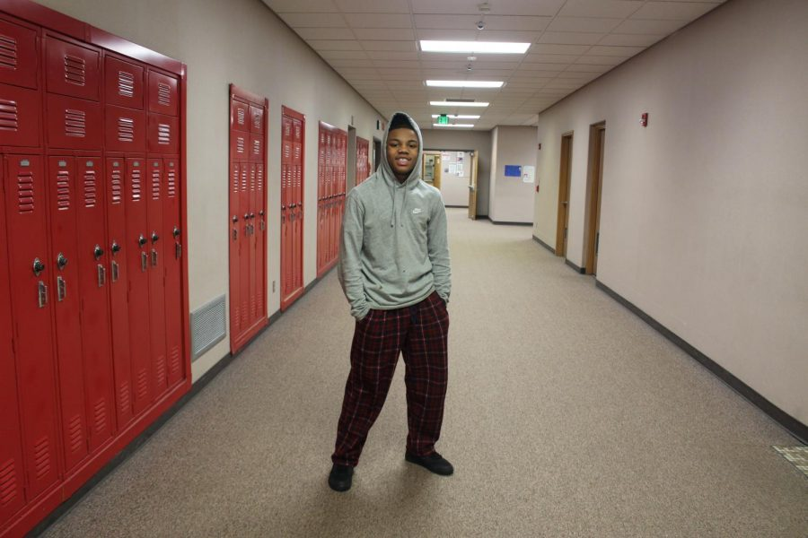 Freshman Germari James took time out of class on Wednesday, Jan. 27 to pose for a picture for lazy day.
