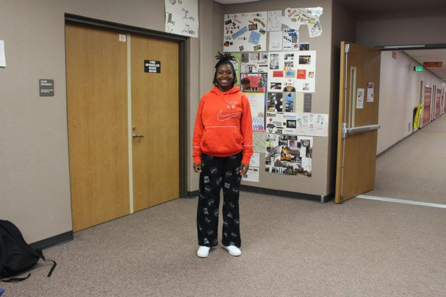 Freshman Aniyah Hunt took time out of class on Wednesday, Jan. 27 to pose for a picture for lazy day.
