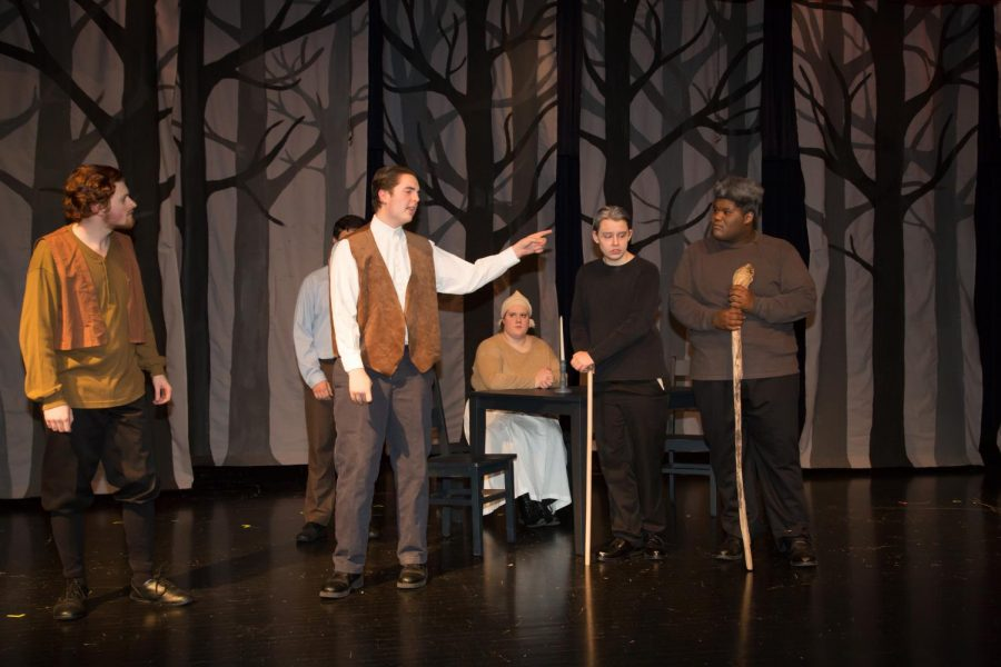 Junior Brock Weston in full action playing the role of () in The Crucible on November 8th 2018