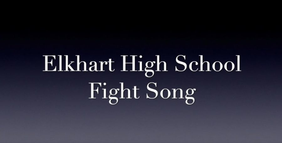 After winter break, the music for the official Elkhart High fight song was released. Band members are already preparing by learning the music.