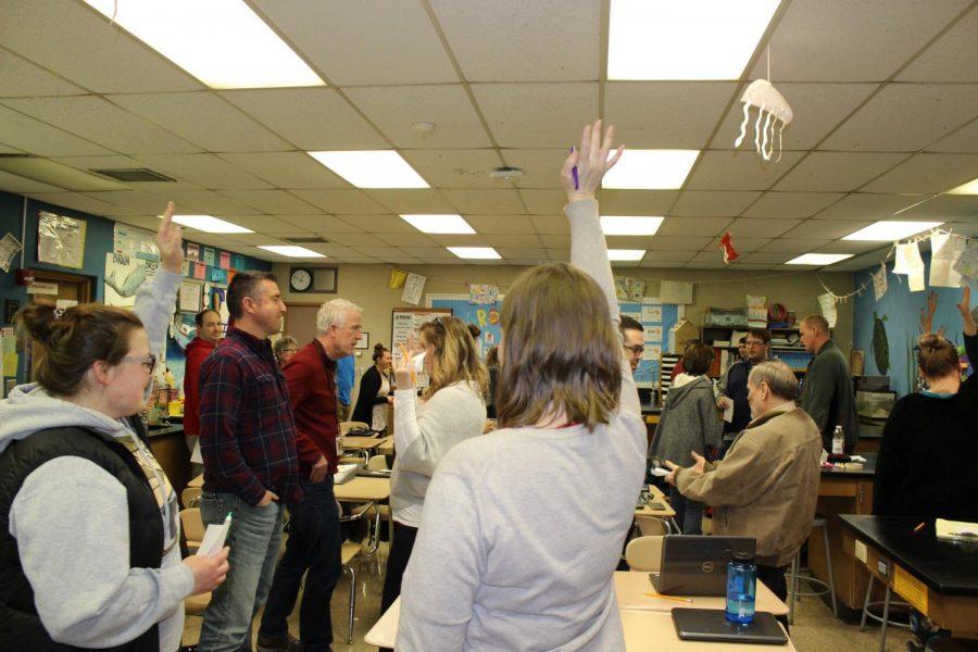 ECS teachers participate in a class called