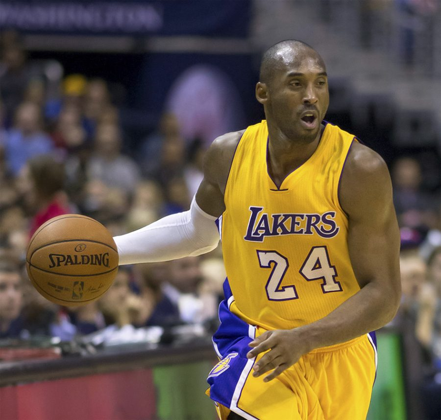 Kobe Bryant plays against the Washington Wizards on Wednesday, Dec. 3, 2014.