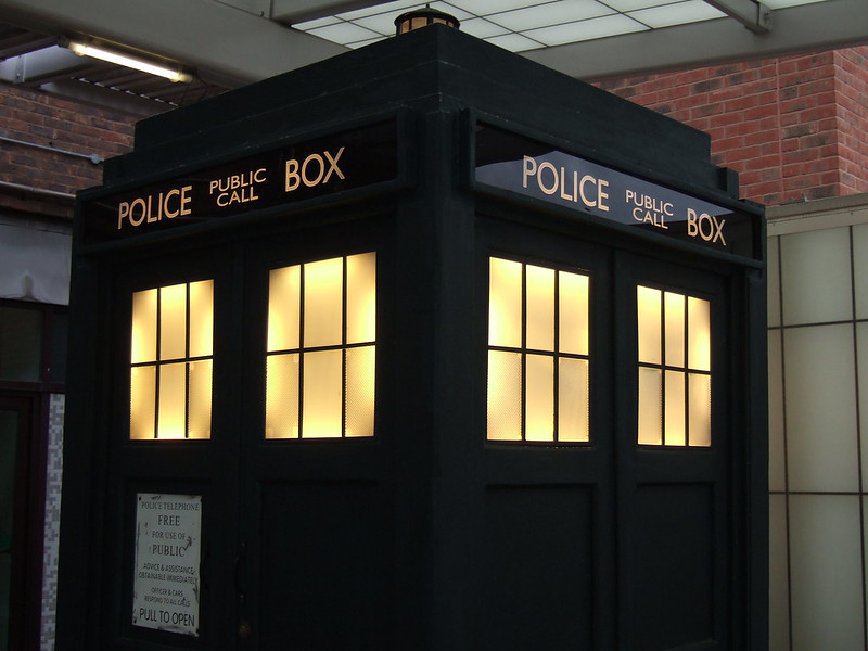 The TARDIS, how Doctor travels through time and space. https://creativecommons.org/licenses/by/2.0/ /No modifications made.