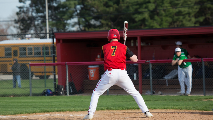 Senior Zack Rohm at bat against Concord on Monday, April 22, 2019 during his junior year. Rohm is our GENESIS athlete of the week.