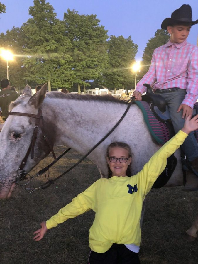 Cade and Camryn Tyrakowski keep the family busy in the summer with their 4H competitions.