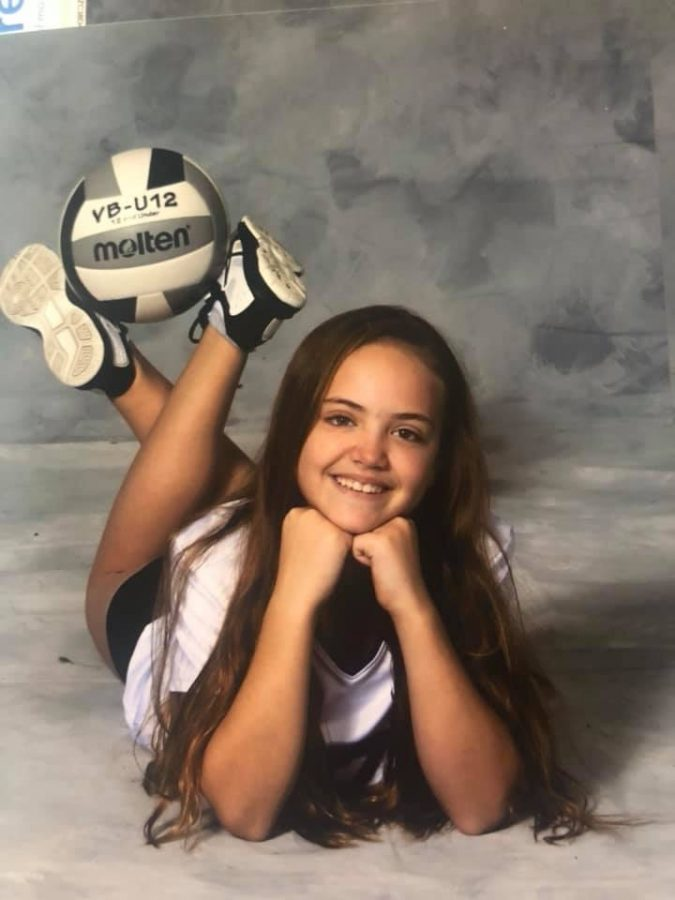 Camryn Tyrakowski, daughter to Jeff Miller and Julie Tyrakowski, enjoys playing volleyball. Camryn has made Elkhart Memorial a second home due to the dedication and time her parents put into the high school, but the family still makes time for her extracurriculars as well.