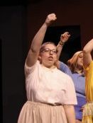 Megan Rodman performing in Elkhart Memorial's production of All Shook Up